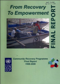 Image of From Recovery To Empowerment : Community Recovery Programme Final Report 1998-2006