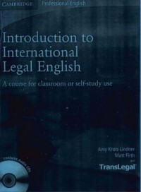 Image of Introduction to International Legal English: A course for classroom or self-study use